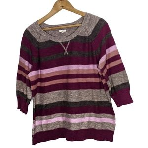 Sonoma Life+ Style Striped Sweater Size XL